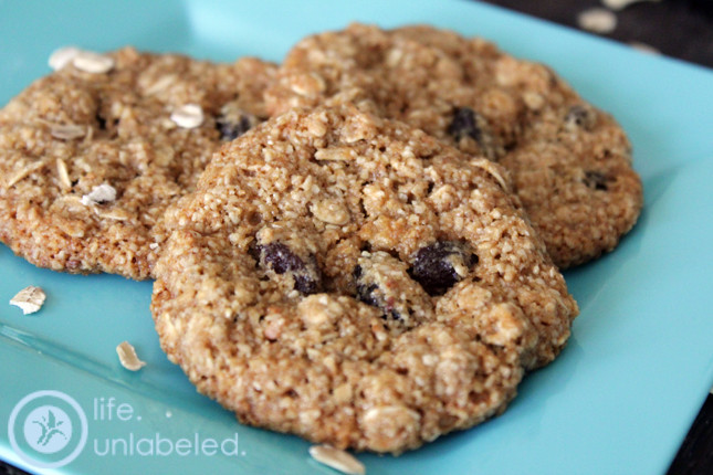 Healthy Chewy Oatmeal Cookies  healthy chewy oatmeal raisin cookies life unlabeled