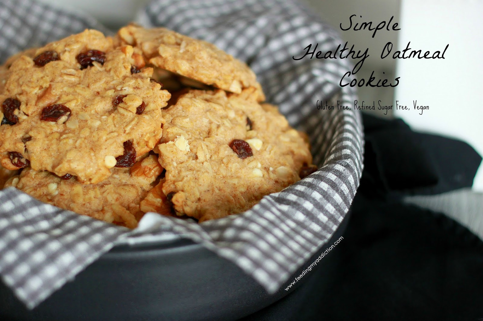 Healthy Chewy Oatmeal Cookies  Feeding My Addiction Healthy Chewy Oatmeal Cookies