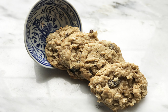 Healthy Chewy Oatmeal Cookies  Healthier Whole Grain Soft and Chewy Oatmeal Raisin