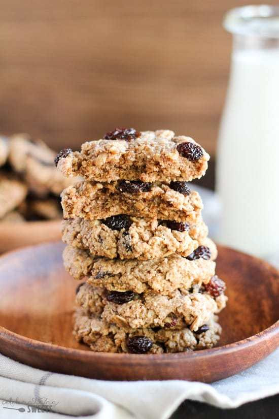 Healthy Chewy Oatmeal Raisin Cookies  Healthy Flourless Oatmeal Raisin Cookies