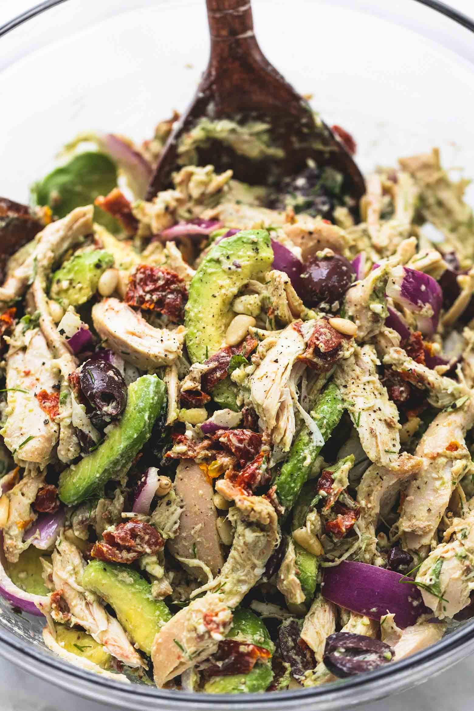Healthy Chicken And Avocado Recipes  Greek Avocado Chicken Salad