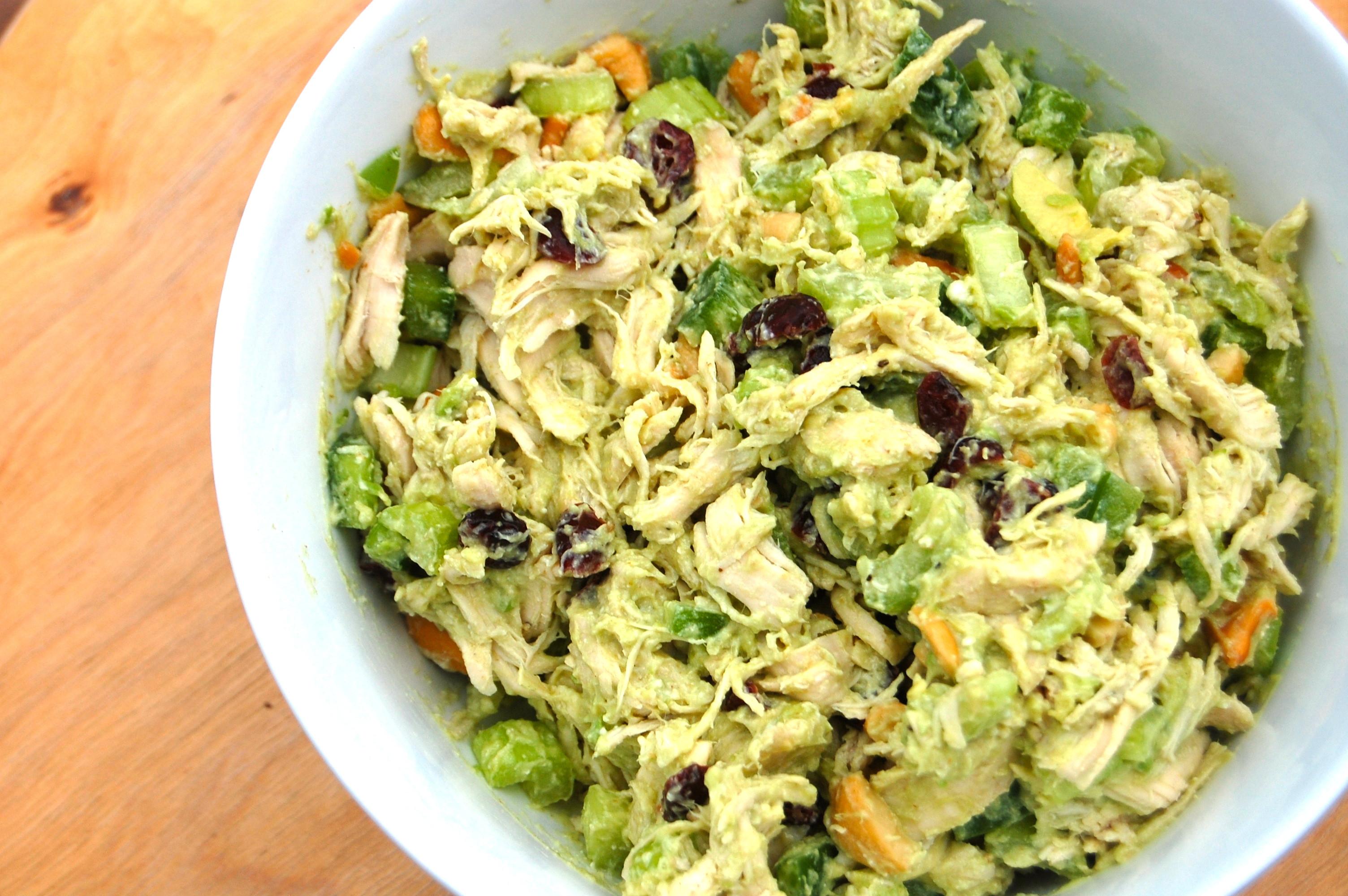 Healthy Chicken And Avocado Recipes  Avocado Cashew Chicken Salad