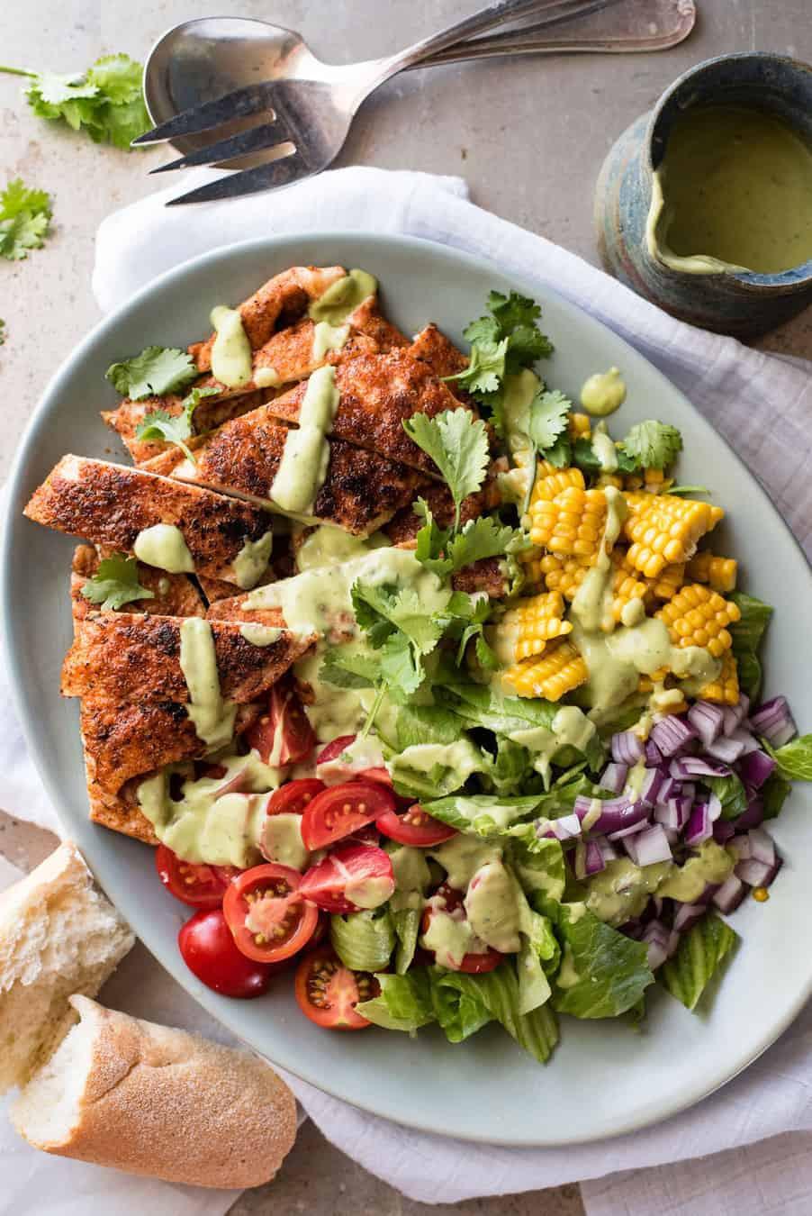 Healthy Chicken And Avocado Recipes  Chicken Salad with Avocado Dressing