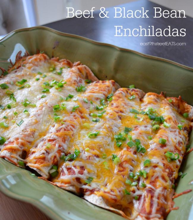 Healthy Chicken And Black Bean Enchiladas  Beef and Black Bean Enchiladas East 9th Street Eats