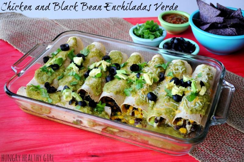 Healthy Chicken And Black Bean Enchiladas  Chicken and Black Bean Enchiladas Verde Kim s Cravings