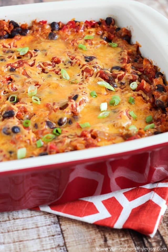 Healthy Chicken And Black Bean Enchiladas  Chicken Black Bean & Quinoa Enchiladas Yummy Healthy Easy