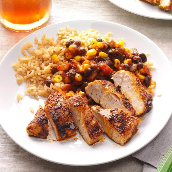 Healthy Chicken And Black Bean Recipes  Black Bean Chicken with Rice Recipe