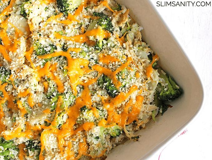 Healthy Chicken And Broccoli Casserole  Healthy Broccoli Chicken Casserole Slim Sanity