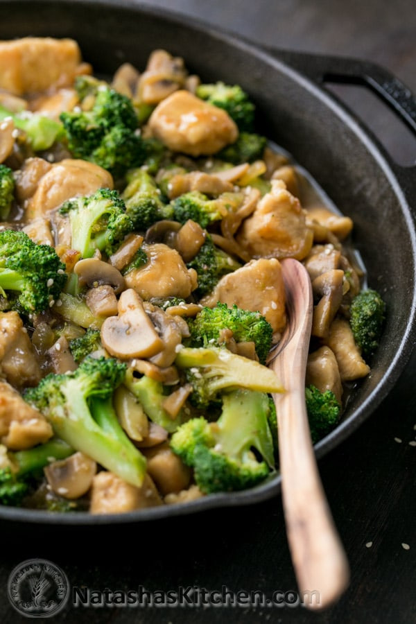 Healthy Chicken And Broccoli Stir Fry  easy chicken stir fry recipe with frozen ve ables