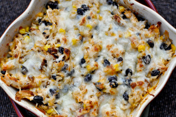 Healthy Chicken And Brown Rice Casserole  Cheesy Chicken and Rice Bake