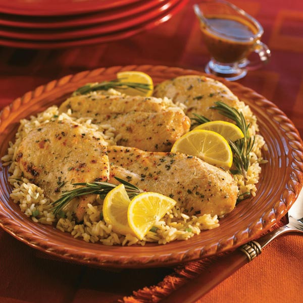 Healthy Chicken And Brown Rice Recipes  Rosemary Chicken With Mediterranean Brown Rice Recipe