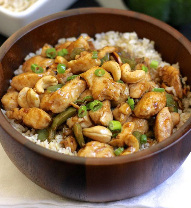 Healthy Chicken And Brown Rice Recipes  Healthy Cashew Chicken With Brown Rice Recipe