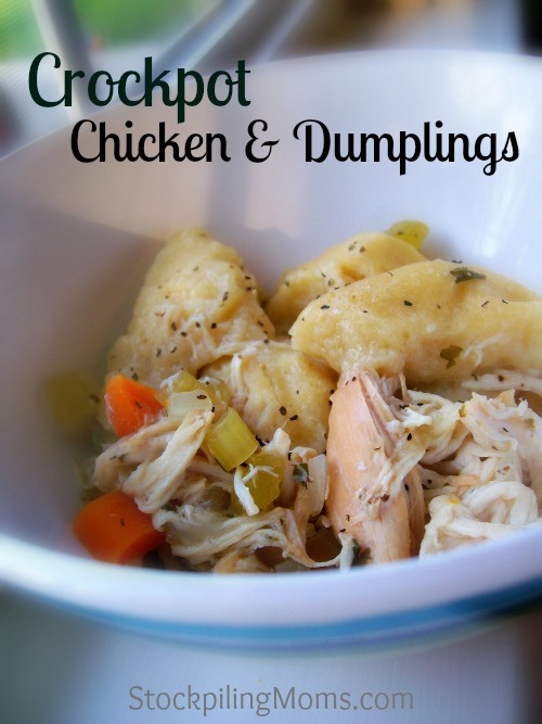 Healthy Chicken And Dumplings Crock Pot  Crockpot Chicken and Dumplings