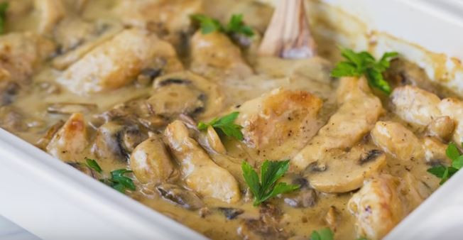 Healthy Chicken And Mushroom Casserole  Savory Chicken Mushroom Casserole Recipe