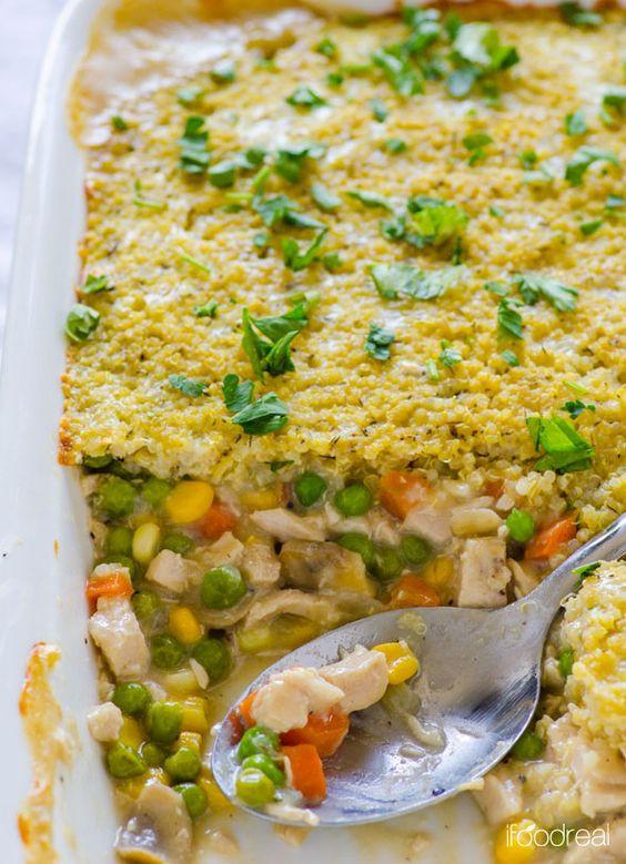 Healthy Chicken And Quinoa Recipes  Quinoa Chicken Pot Pie Recipe
