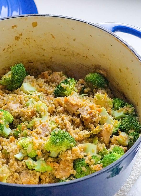 Healthy Chicken And Quinoa Recipes  e Pot Quinoa Chicken and Broccoli iFOODreal Healthy