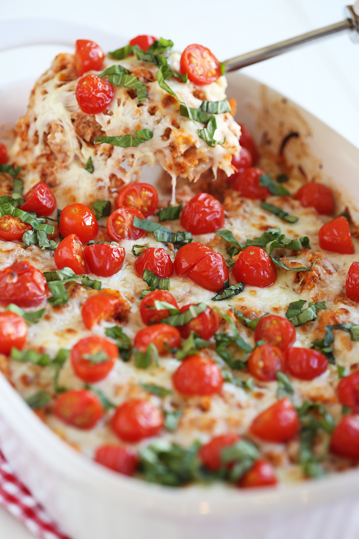 Healthy Chicken And Quinoa Recipes  Cheesy Caprese Chicken & Quinoa Casserole Eat Yourself