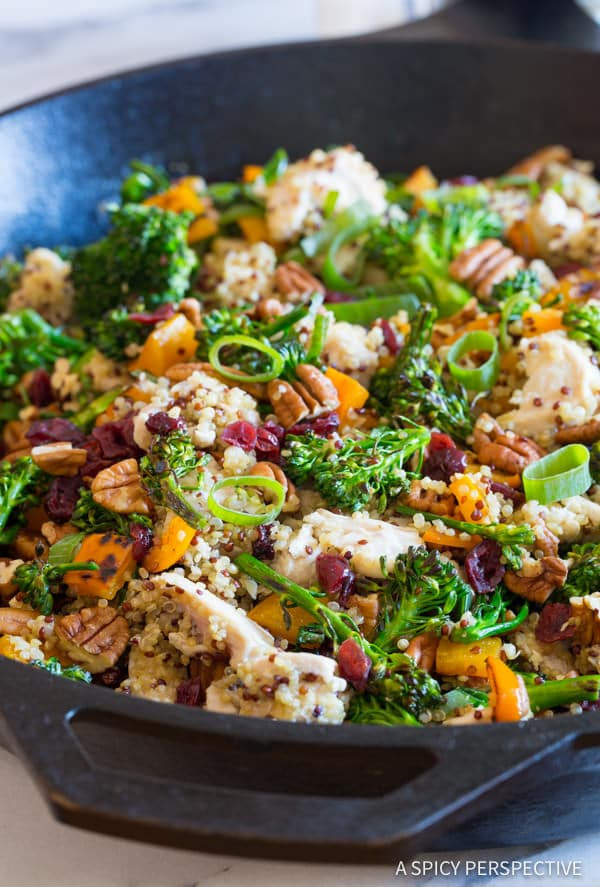 Healthy Chicken And Quinoa Recipes  Chicken Broccoli Quinoa Skillet A Spicy Perspective