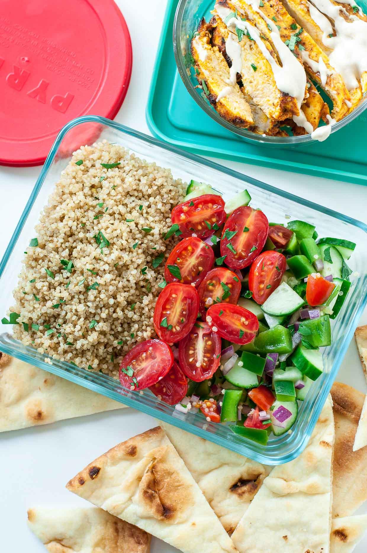 Healthy Chicken And Quinoa Recipes  Healthy Chicken Shawarma Quinoa Bowls Peas And Crayons