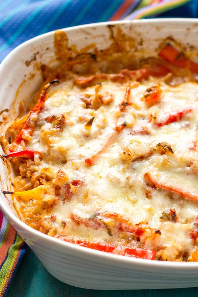 Healthy Chicken And Rice Casserole  Healthy chicken fajita casserole Family Food on the Table