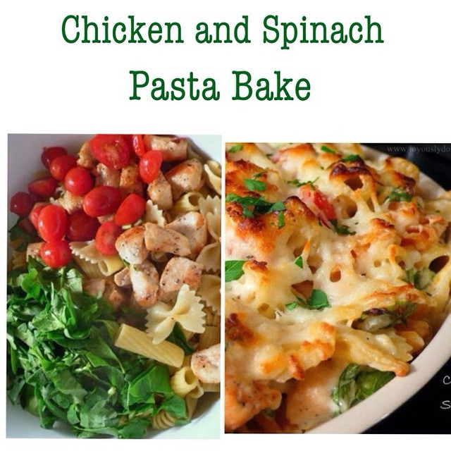 Healthy Chicken And Spinach Casserole  Chicken And Spinach Pasta Bake
