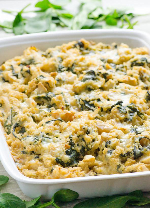 Healthy Chicken And Spinach Casserole  Healthy Spinach Quinoa Casserole