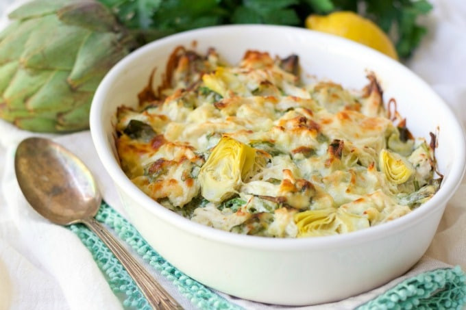 Healthy Chicken And Spinach Casserole  Healthy Spinach Artichoke Chicken Casserole