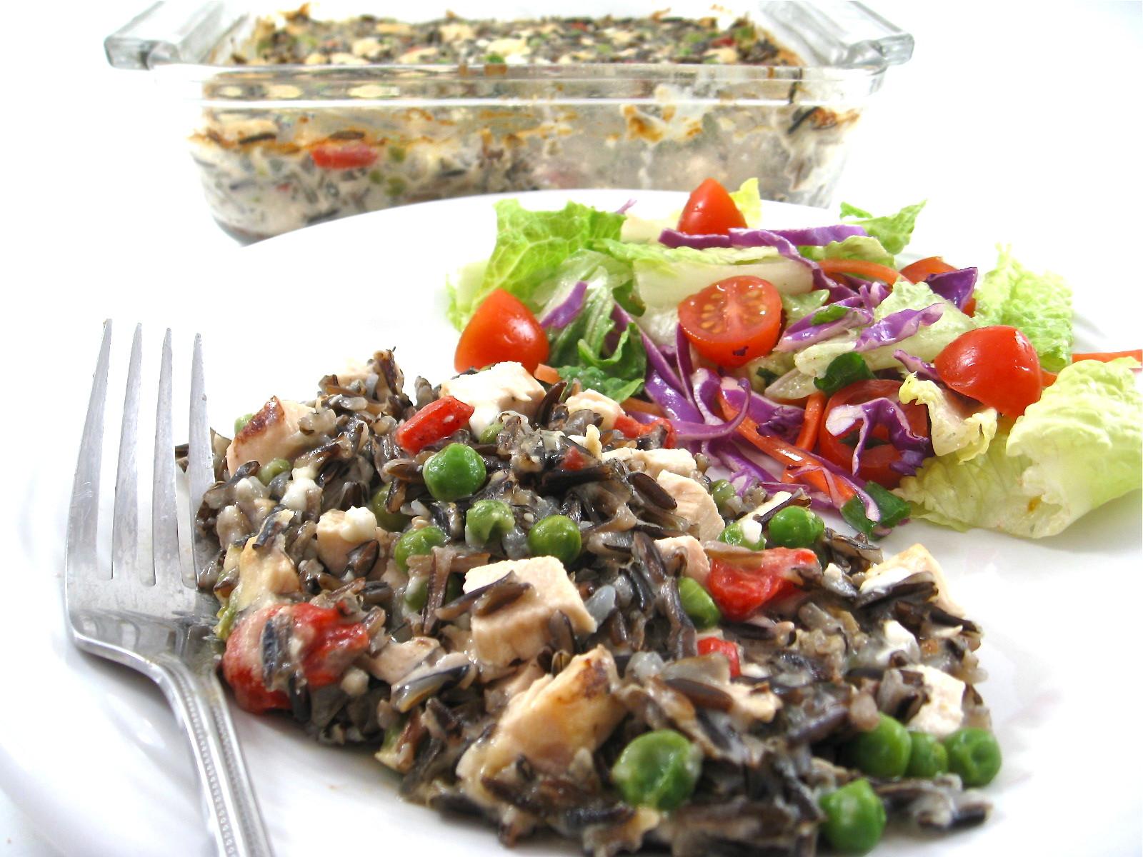 Healthy Chicken And Wild Rice Casserole  Skinny Chicken Alfredo and Wild Rice Casserole with Weight