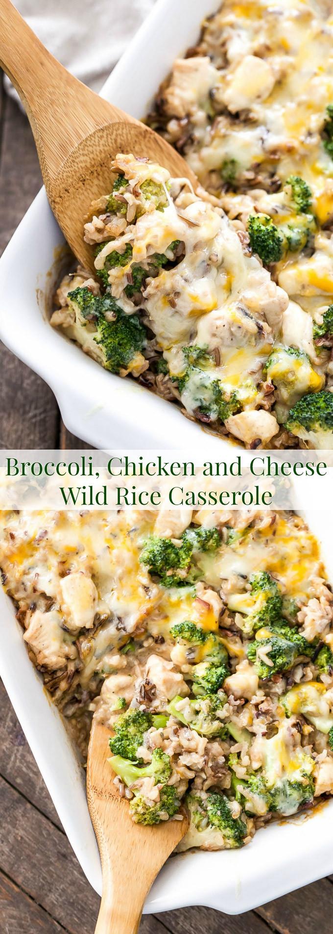 Healthy Chicken And Wild Rice Casserole  healthy chicken wild rice casserole