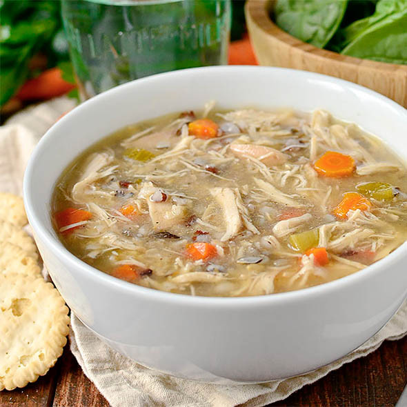 Healthy Chicken And Wild Rice Soup  Crock Pot Chicken and Wild Rice Soup Healthy Crock Pot