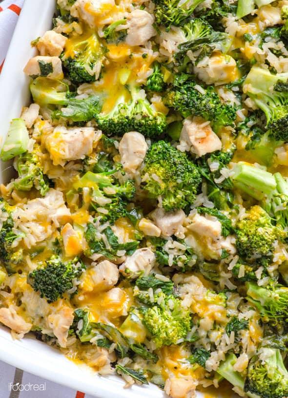 Healthy Chicken Broccoli Casserole  Healthy Chicken Broccoli Rice Casserole iFOODreal