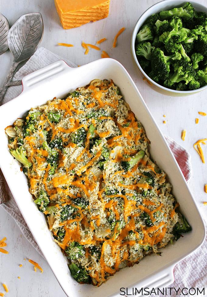 Healthy Chicken Broccoli Casserole  Healthy Broccoli Chicken Casserole Slim Sanity