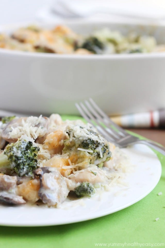 Healthy Chicken Broccoli Casserole  Skinny Chicken & Broccoli Casserole Yummy Healthy Easy