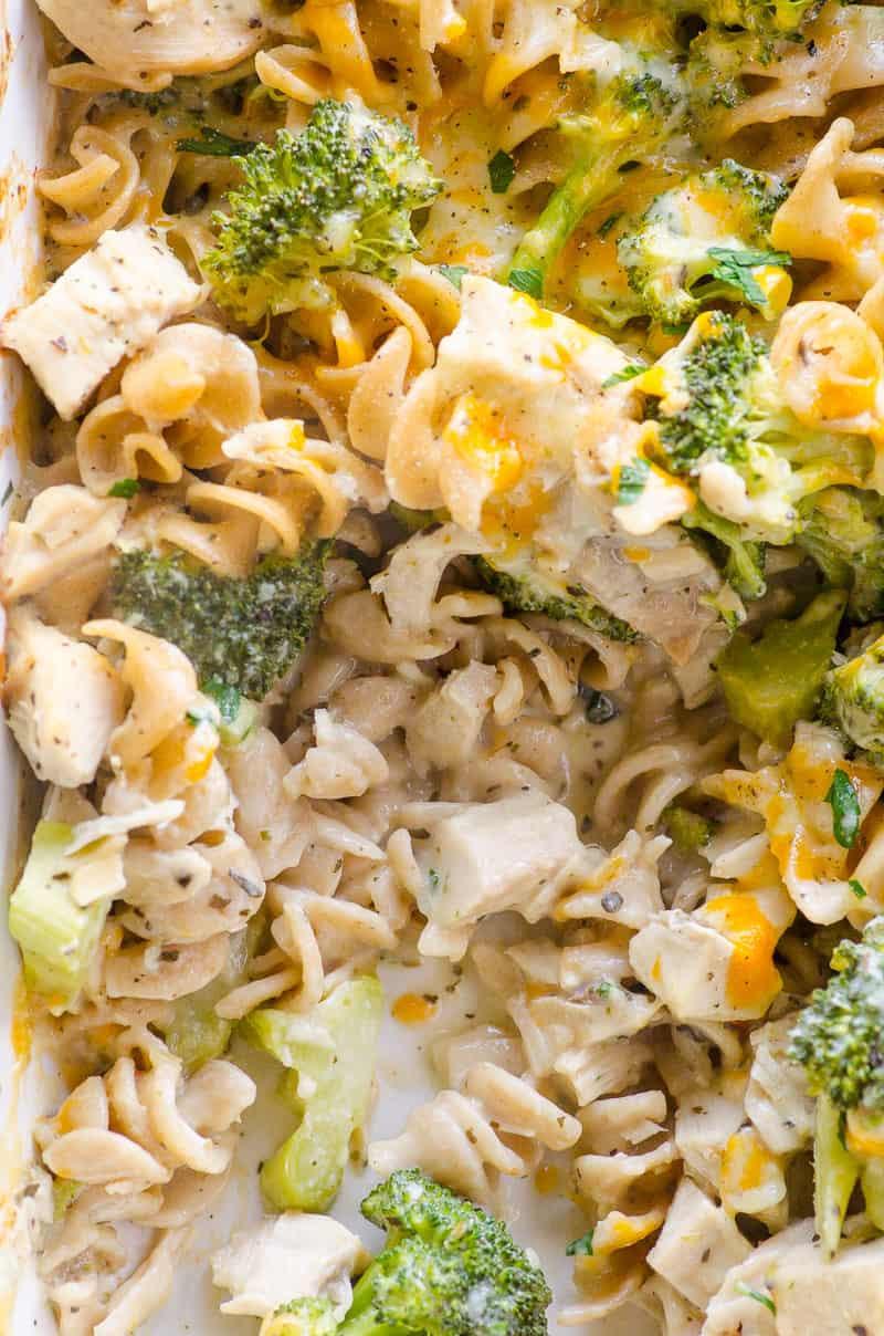Healthy Chicken Broccoli Rice Casserole No Canned Soup  Healthy Chicken Broccoli Casserole iFOODreal Healthy