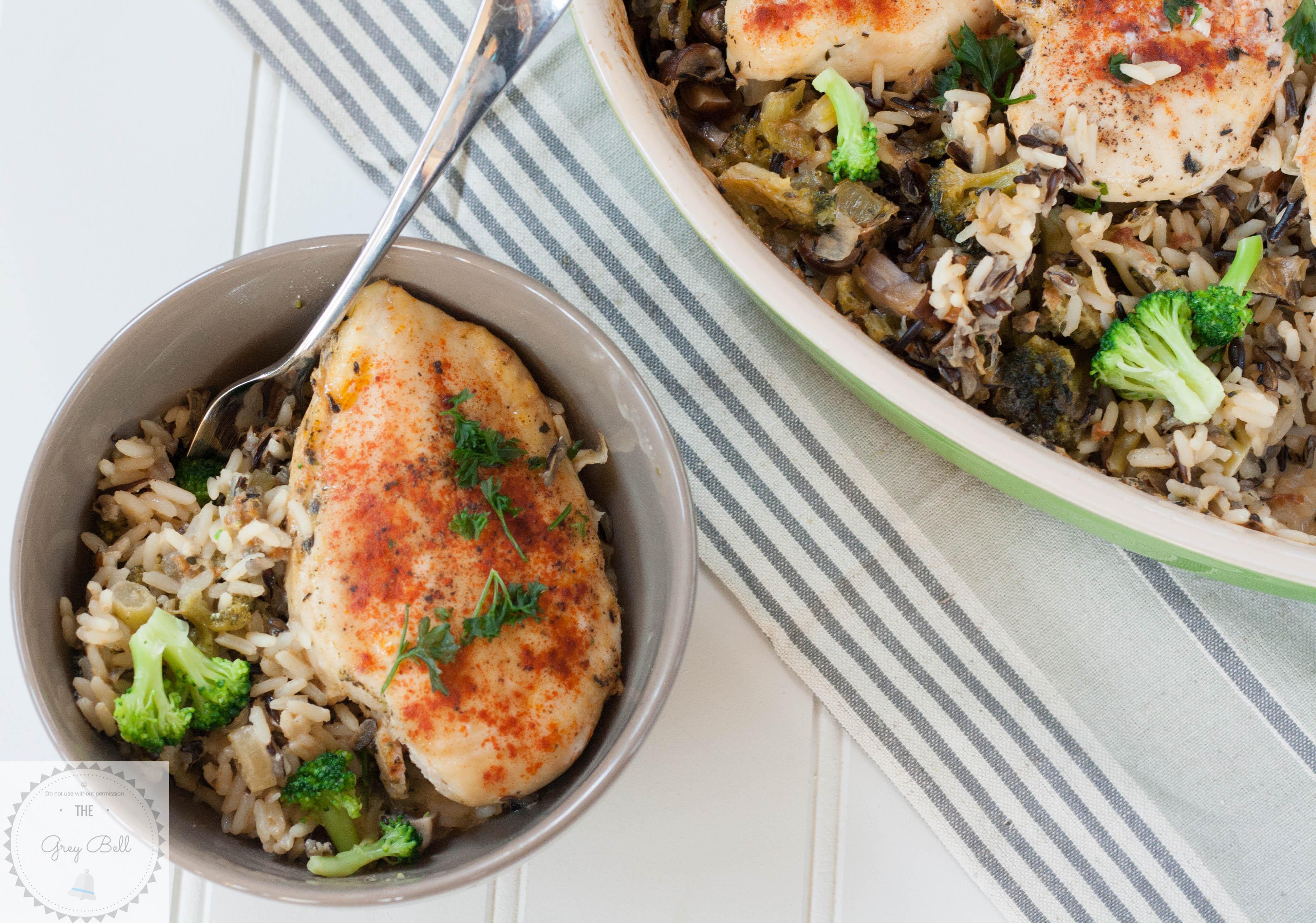 Healthy Chicken Broccoli Rice Casserole No Canned Soup  No Soup Chicken Broccoli & Wild Rice Bake The Grey Bell