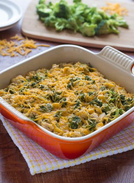 Healthy Chicken Broccoli Rice Casserole  Cheesy Chicken Broccoli Rice Casserole