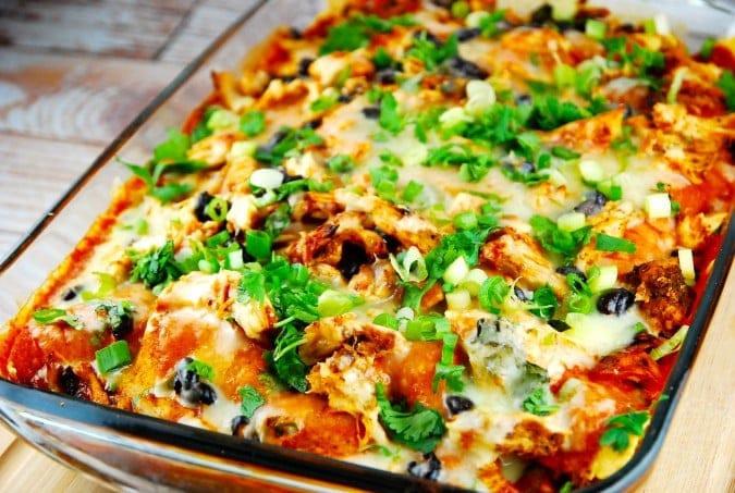 Healthy Chicken Casserole Recipes Weight Watchers  Chicken Enchilada Casserole Recipe 8 Smart Points LaaLoosh