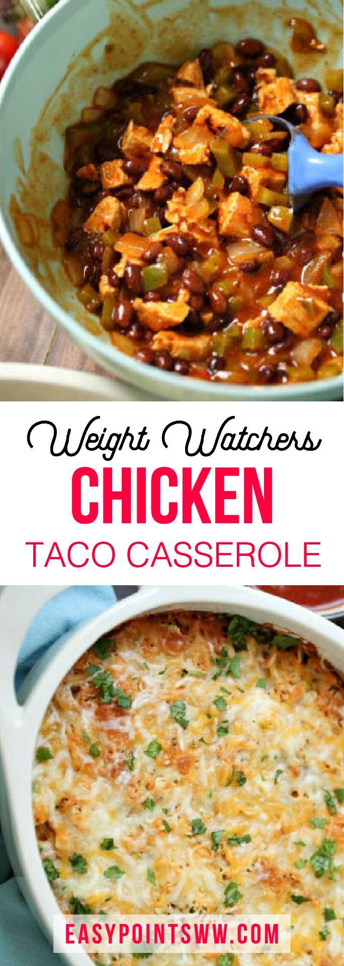 Healthy Chicken Casserole Recipes Weight Watchers  25 best ideas about Chicken taco casserole on Pinterest