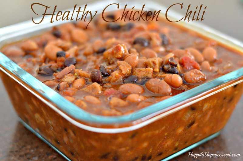 Healthy Chicken Chili  Healthy Chicken Chili Happily Unprocessed