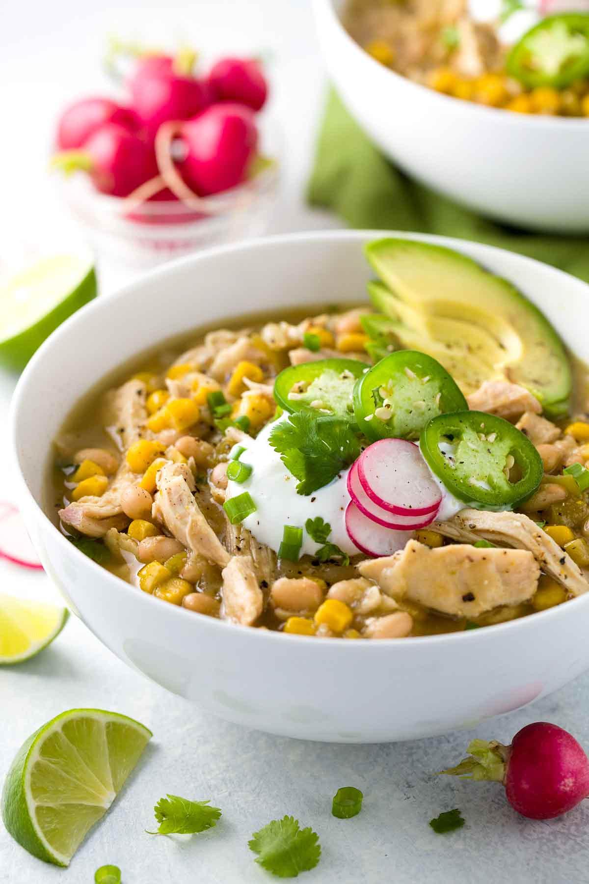 Healthy Chicken Chili  White Bean Chicken Chili Crockpot Recipe