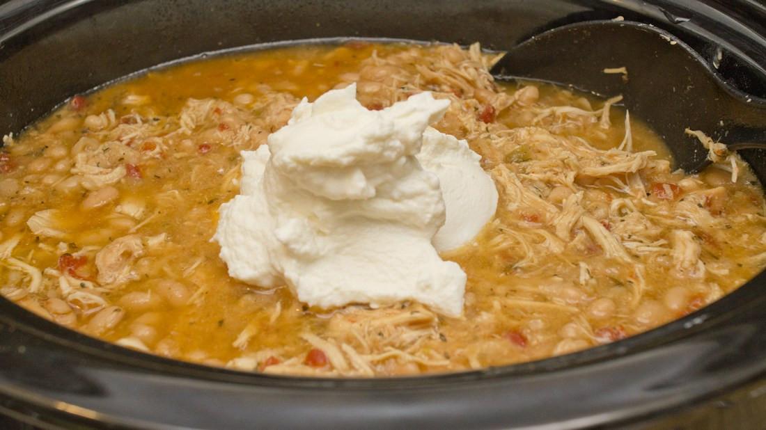 Healthy Chicken Chili Crock Pot  Trim Healthy Mama style Crock Pot White Chicken Chili