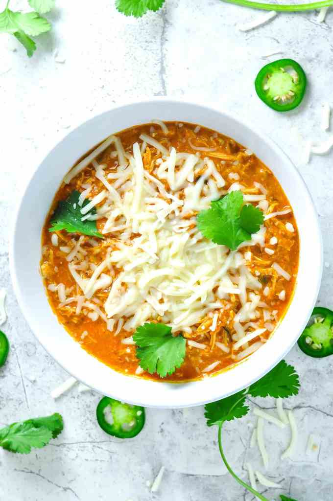 Healthy Chicken Chili Recipe  Shredded Chicken Chili [Recipe] KETOGASM