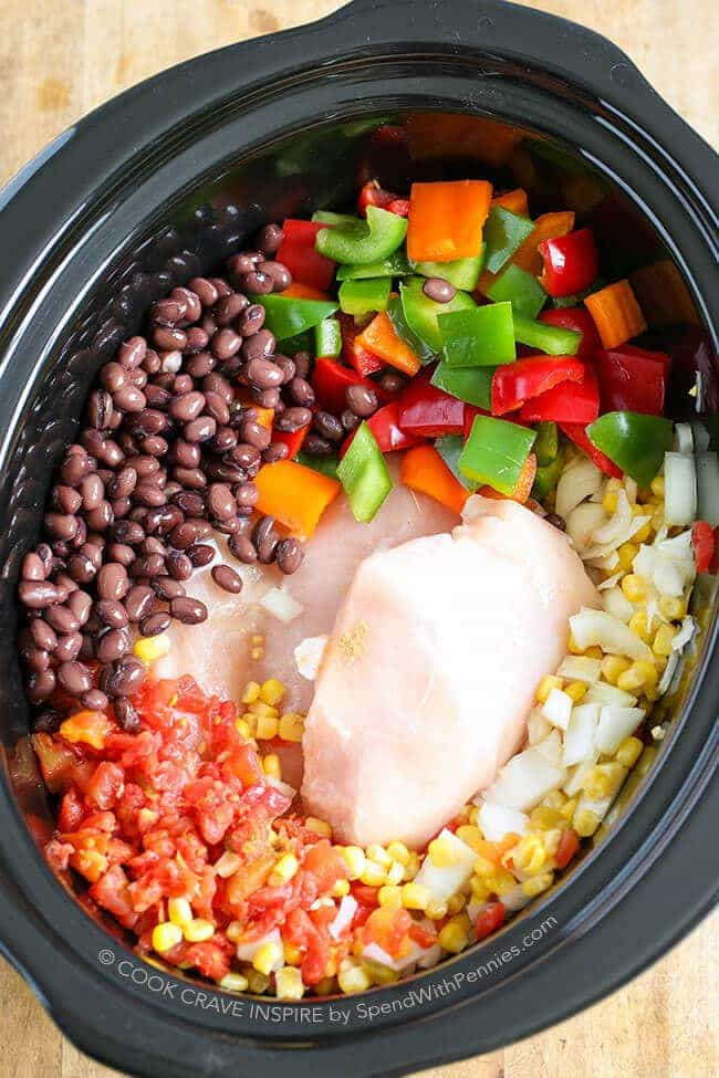 Healthy Chicken Chili Slow Cooker  Slow Cooker Chicken Chili Hearty & Healthy Spend With