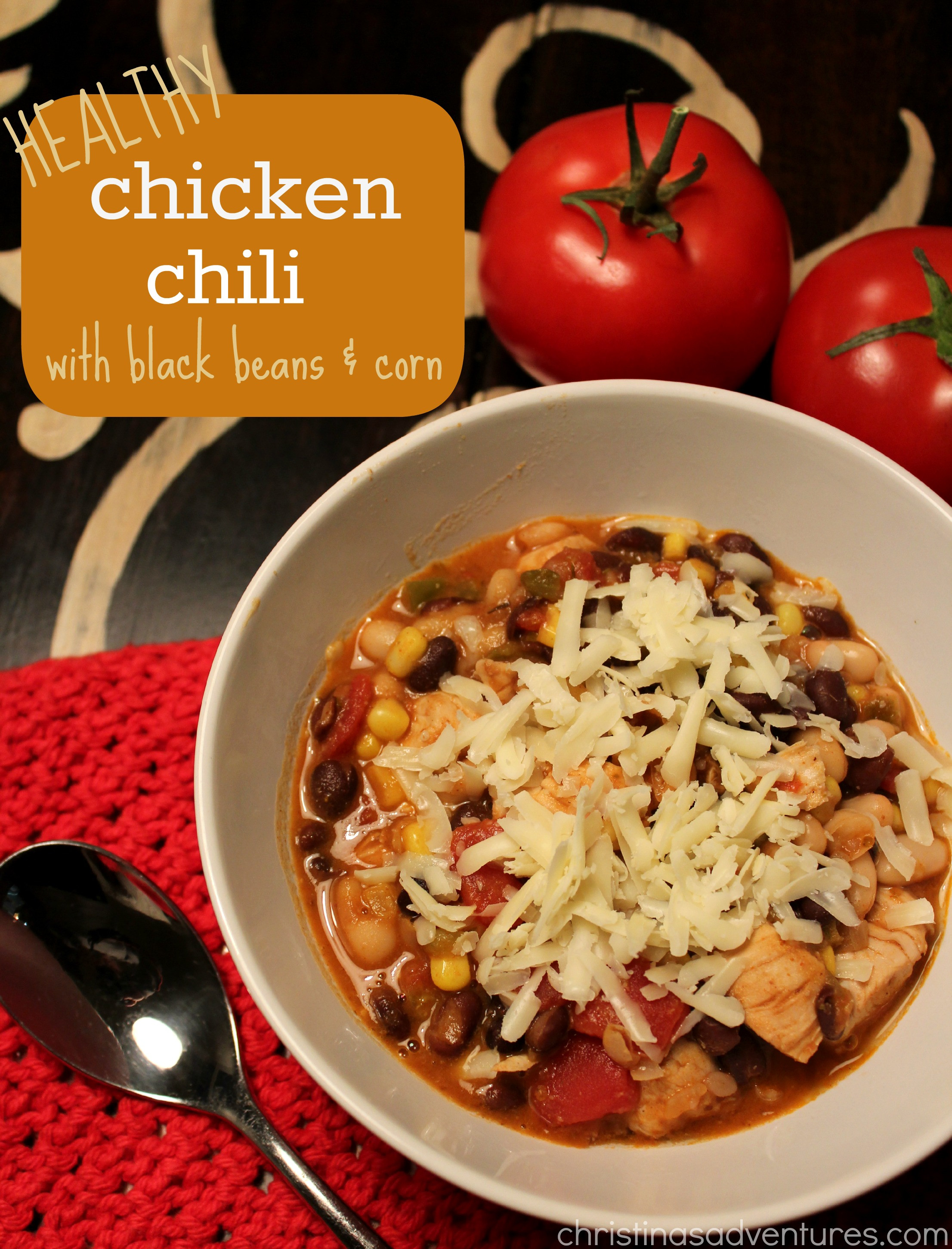Healthy Chicken Chili  Healthy Chicken Chili Recipe and a giveaway
