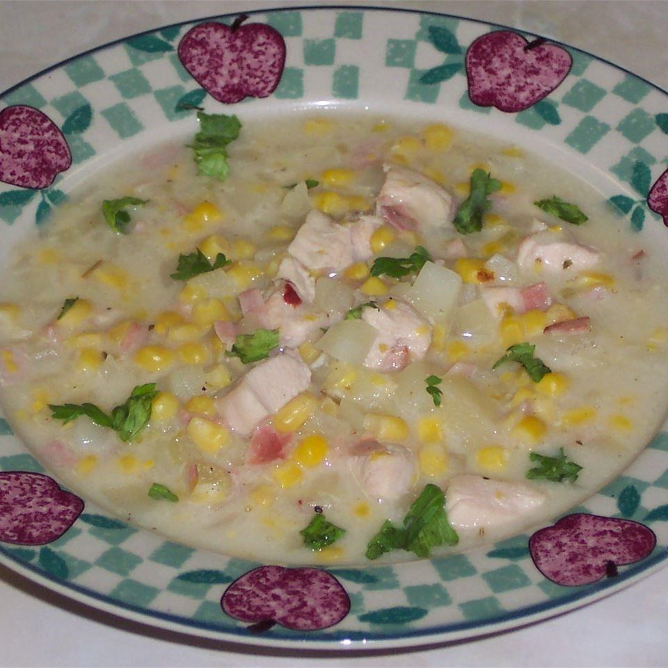 Healthy Chicken Corn Chowder  Healthy Chicken and Corn Chowder recipe All recipes UK