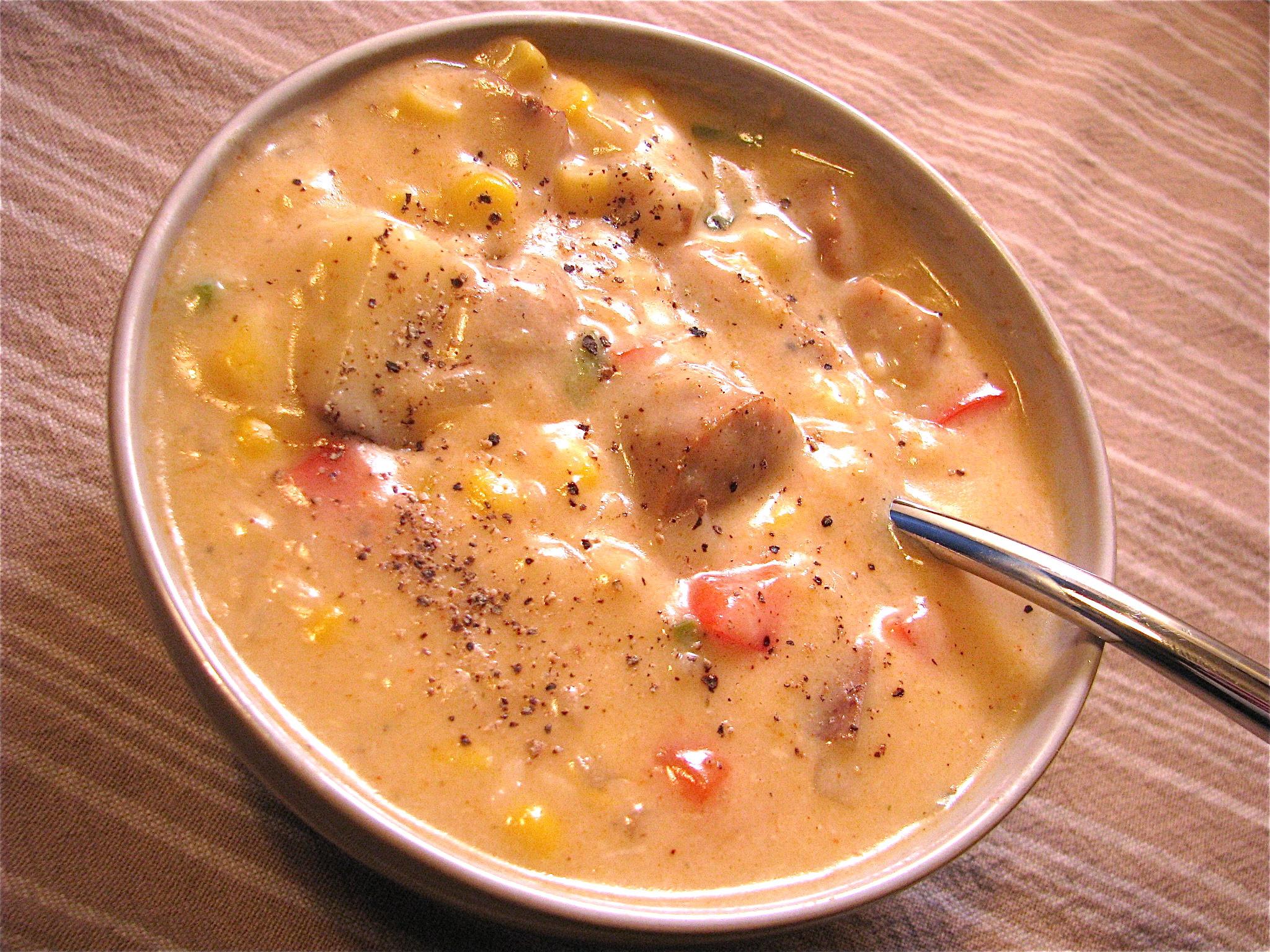 Healthy Chicken Corn Chowder  Jalapeno Chicken & Corn Chowder