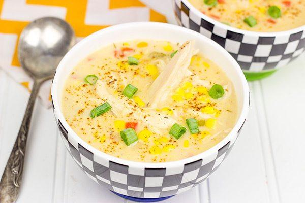 Healthy Chicken Corn Chowder  Healthy Chicken Corn Chowder