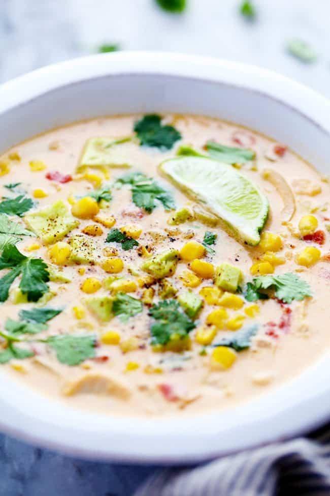 Healthy Chicken Corn Chowder  Mexican Chicken Corn Chowder