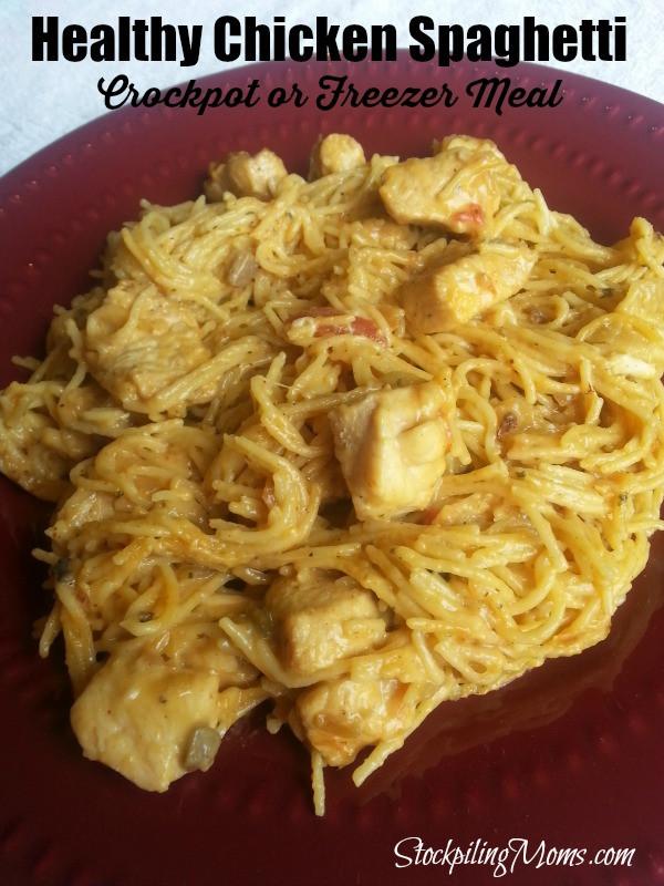 Healthy Chicken Crockpot Dinners  Healthy Chicken Spaghetti Crockpot Freezer Meal
