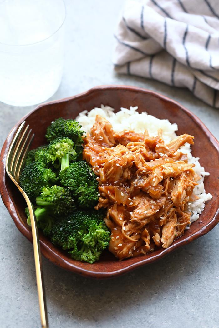 Healthy Chicken Crockpot Dinners  Crockpot Sesame Chicken Recipe Fit Foo Finds
